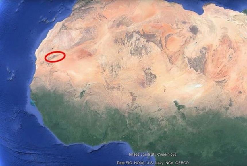 Ubicación del Ojo del Sahara