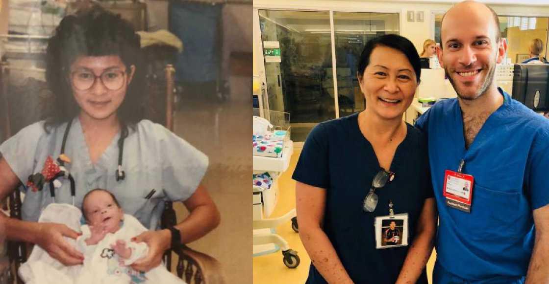 Enfermera termina trabajando con bebé que cuidó hace 28 años