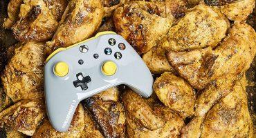 Saquen las alitas: ¡Xbox lanza un control a prueba de grasa de pollo!