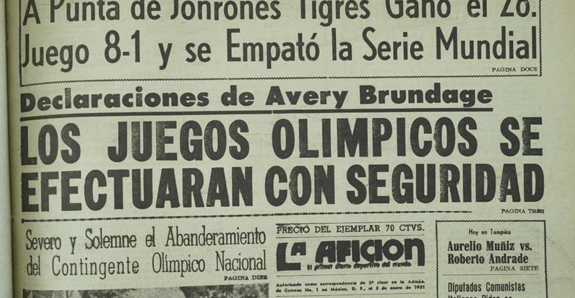 México 68: Entre la violencia y los 'Juegos de la Paz'
