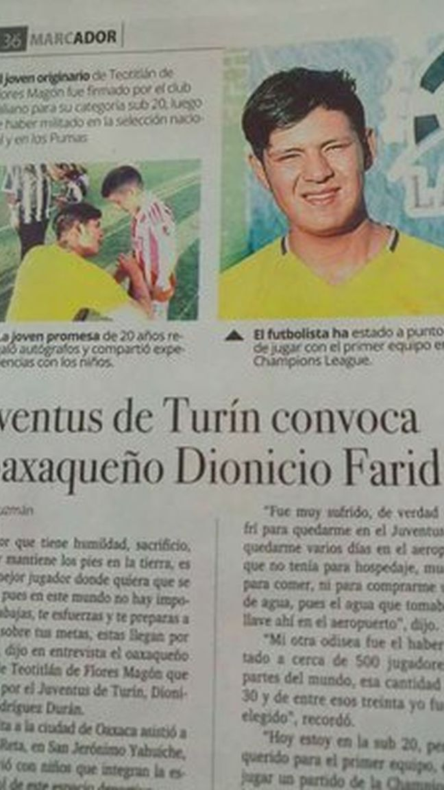 Dionicio Farid Rodríguez: El mexicano que fingió jugar en la Juventus y engañó a todos