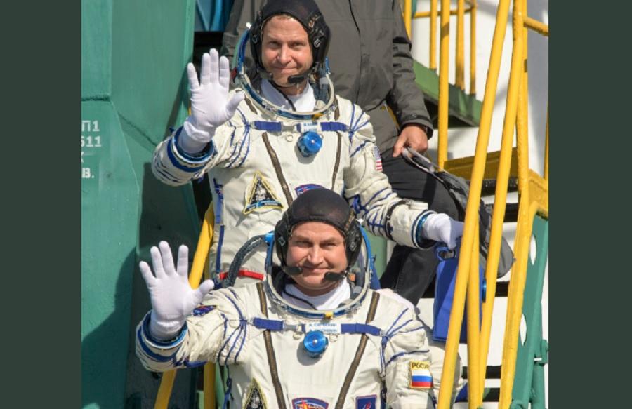 Aleksei Ovchinin y Nick Hague. Tripulación del Soyuz