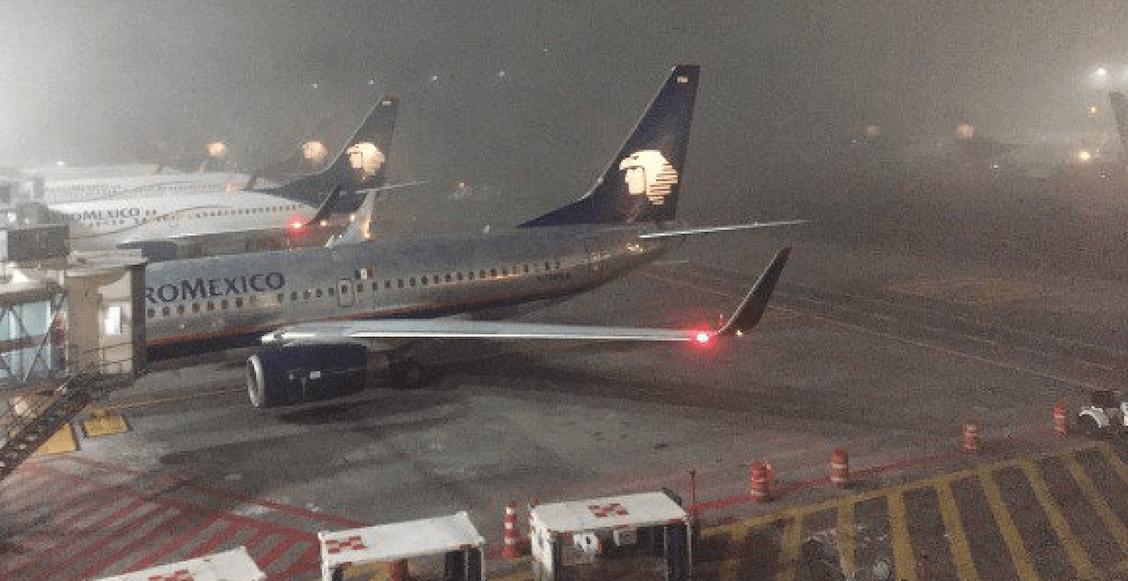 Aeropuerto Internacional CDMX suspende operaciones por banco de niebla