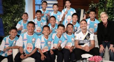 ¡Puro crack! Zlatan se reunió con los niños atrapados de la cueva de Tailandia