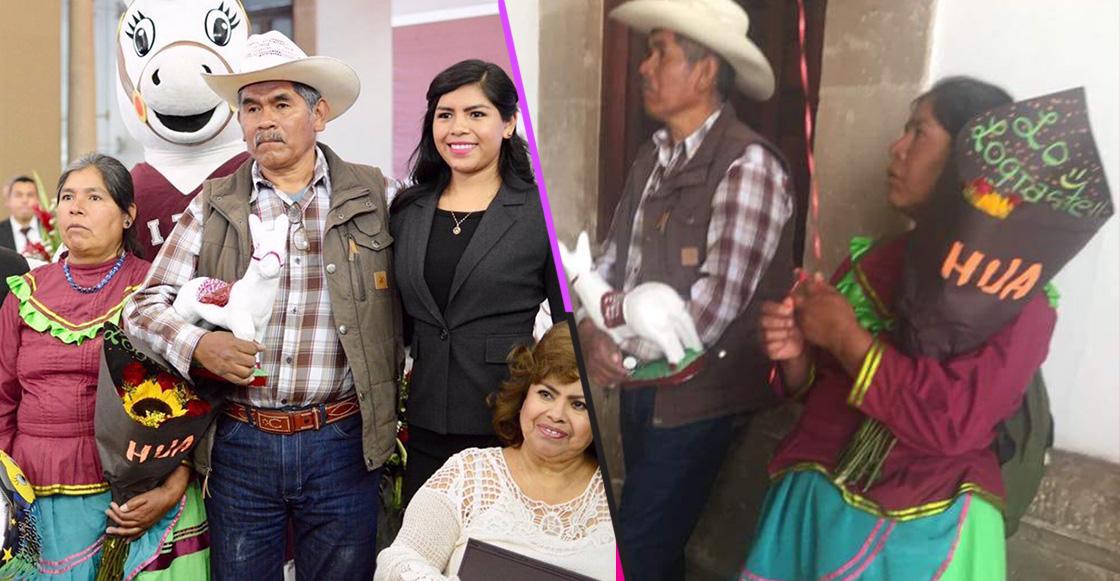 ¡Lagrimita mil! Padres indígenas celebraron así la graduación de su hija