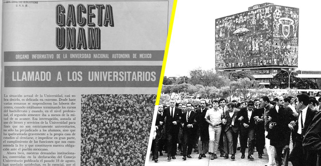 ¿Qué decía el rector de la UNAM días antes del 2 de octubre de 1968?