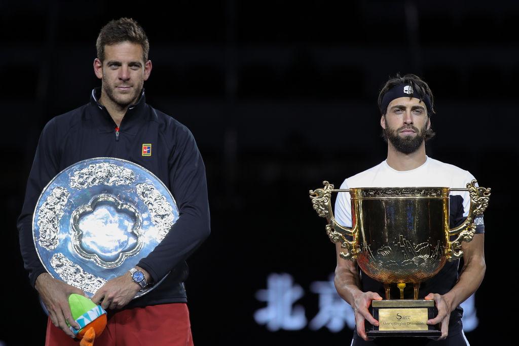 Del Potro perdió la final del ATP 500 de Beijing ante Basilashvili