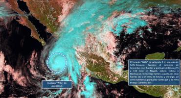 Por huracán Willa, declaran emergencia en municipios de Sinaloa y Nayarit