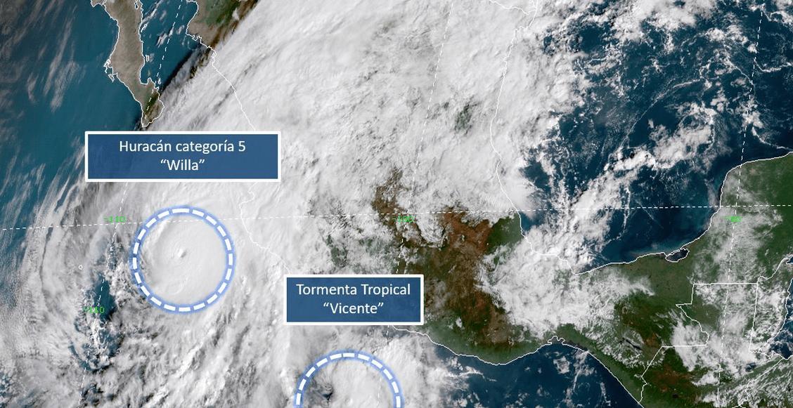Huracán Willa se convierte en categoría 5; es considerado 'extremadamente peligroso'