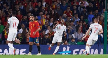 ¡Se acabó! Inglaterra corta racha invicta de España en la UEFA Nations League