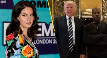 En 5 puntos te explicamos qué está pasando entre Lana del Rey, Kanye West y Trump