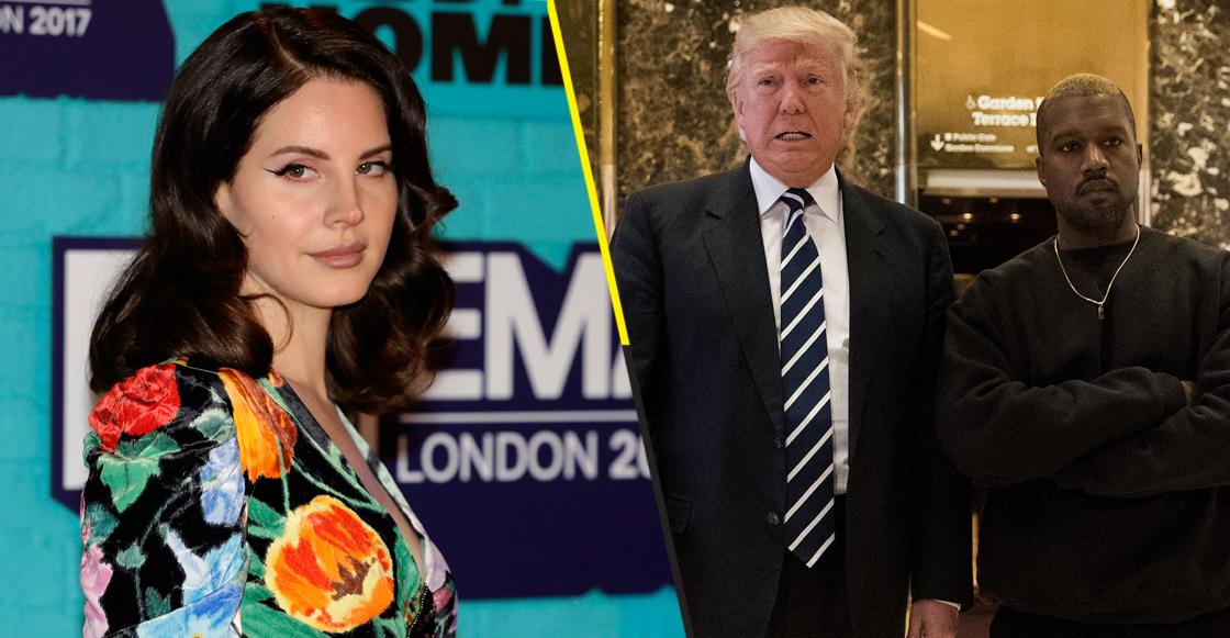 Te explicamos qué está pasando entre Lana del Rey, Kanye West y Trump