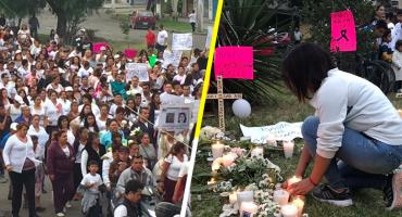 Al grito de '¡Ni una menos'!, protestan en Ecatepec por feminicidios en Jardines de Morelos