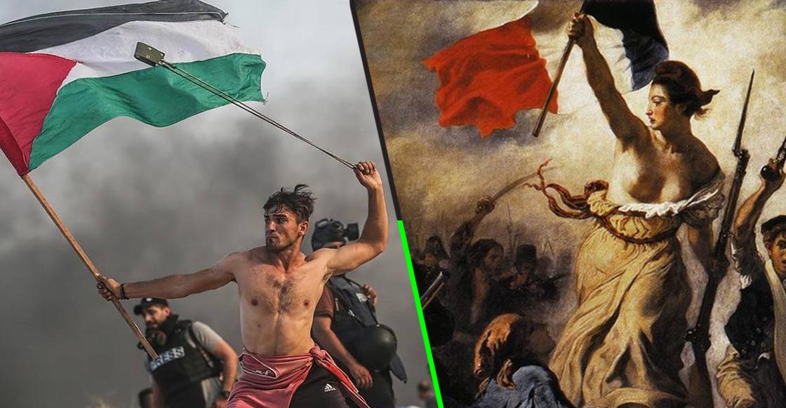 ¡Wow! La foto de este palestino recuerda a una famosa obra de arte