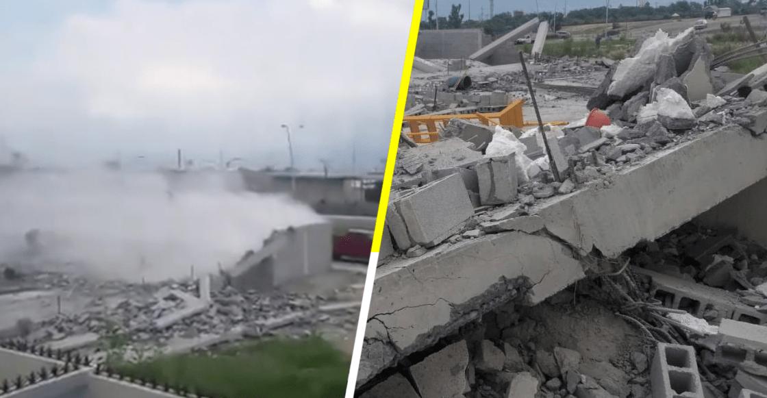 Derrumbe en Monterrey deja 15 heridos, 7 personas perdieron la vida