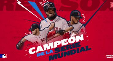¡Campeones! Boston Red Sox logran el título de la Serie Mundial