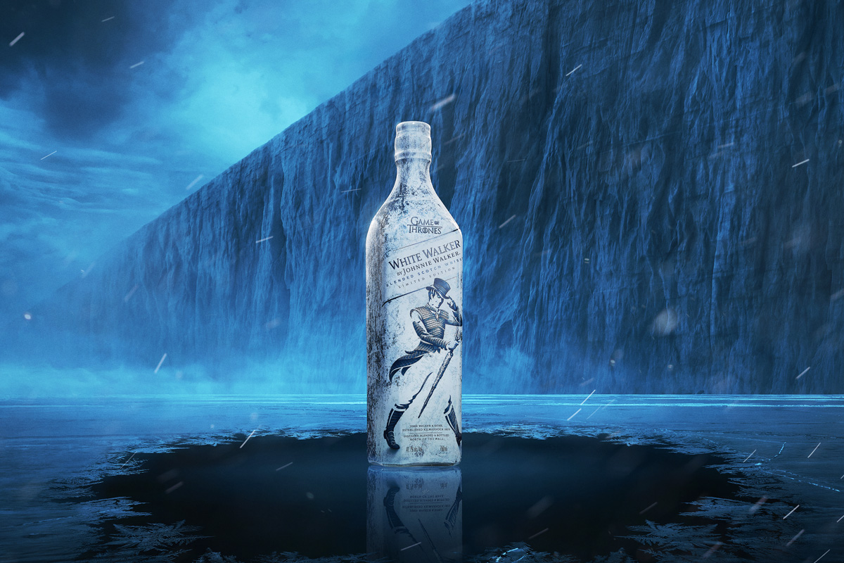 White Walker el Whiskey conmemorativo de Johnnie Walker y Game Of Thrones
