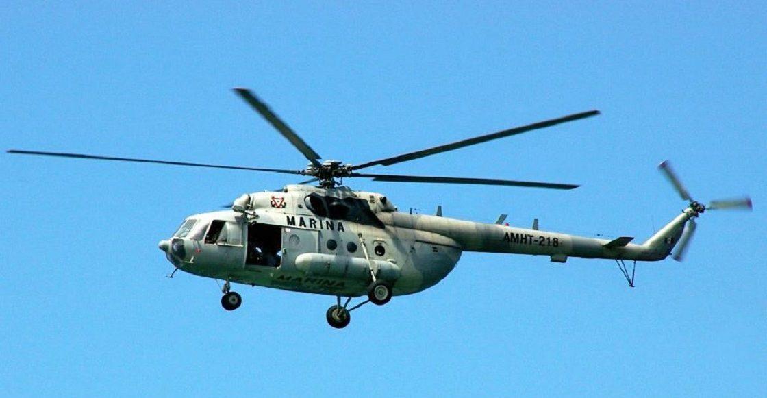 Se desploma un helicóptero de la Semar; hay dos heridos y un desaparecido