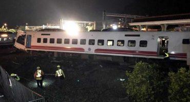 Un tren se descarrila en Taiwán; deja 22 muertos y 171 heridos