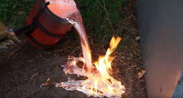 ¿Qué ocurre si echas aluminio fundido en un nido de avispas?