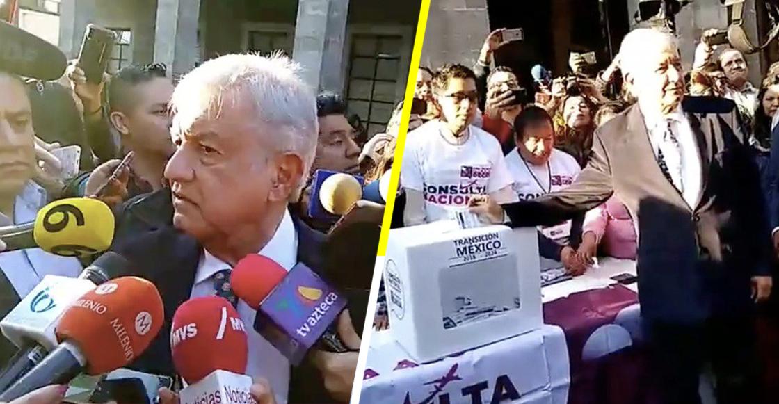 """AMLO se va contra Loret de Mola por """"pregonar miedo"""" sobre la consulta"""