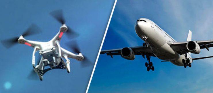 Drones representan alto riesgo para los aviones