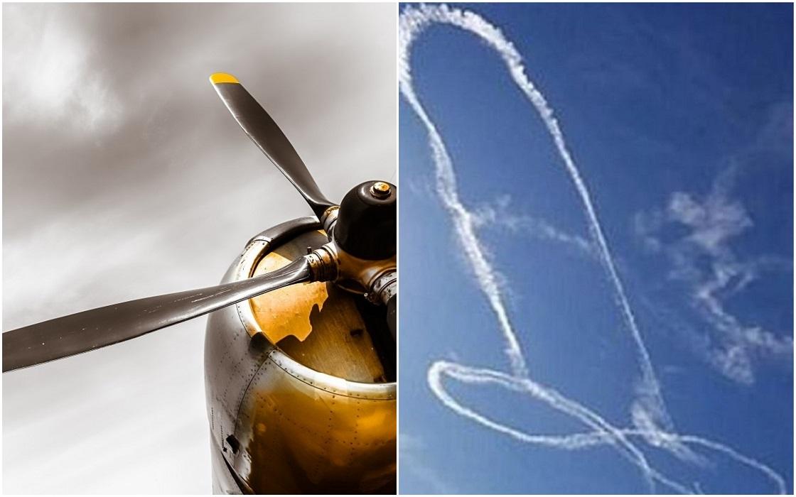 Piloto que dibujó un pene en el cielo