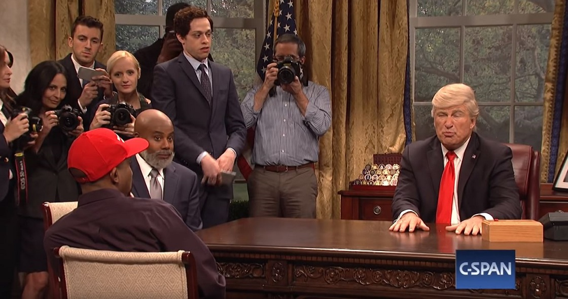Alec Baldwin recreando otro momento de Donald Trump