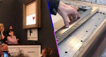 ¡Genio! Banksy explica en un video cómo preparó la autodestrucción de su cuadro en venta