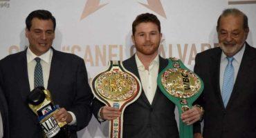 'Canelo' Álvarez recibió cinturón del CMB y lo candidatean a Premio Nacional del Deporte