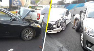 10 vehículos chocan en carambola en la México Toluca; hay un herido