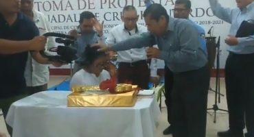 ¿Y el Estado laico 'apa? Alcaldesa de Centla toma protesta con acto religioso