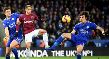 Leicester le saca el triunfo de la bolsa al West Ham en el último minuto