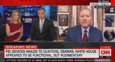 Así interrumpió CNN su transmisión por hallazgo de paquete explosivo