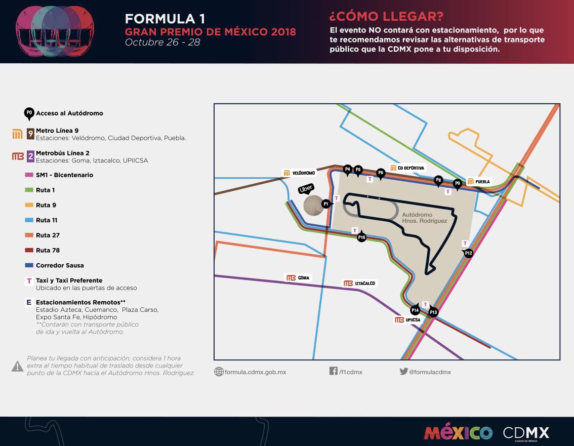 'Checo' Pérez quiere subirse al podio en el Gran Premio de México