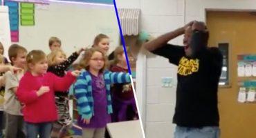 ¡Lagrimita mil! Estos niños le cantaron 'Las Mañanitas' al conserje de su escuela en lenguaje de señas