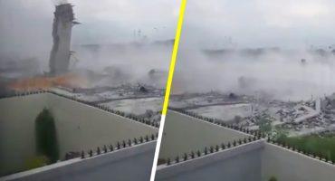 Se reporta derrumbe en plaza comercial de Monterrey; al menos 8 muertos y 10 desaparecidos