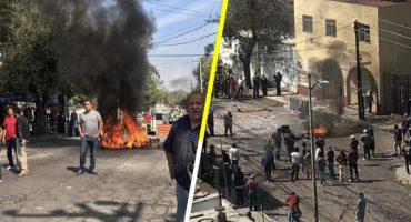 Intento de desalojo en Azcapotzalco provoca enfrentamiento con granaderos; al menos 10 heridos