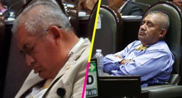 ¡Dejen dormir! Diputado de Morena, Manuel Huerta Martínez, se vuelve a quedar dormido en su curul