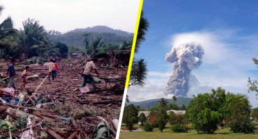 Hace erupción un volcán en la misma isla del tsunami de Indonesia