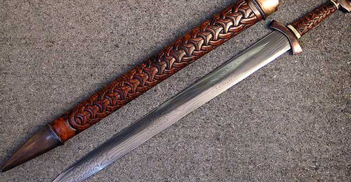 Una niña de 8 años se encontró una espada que tiene más de mil años