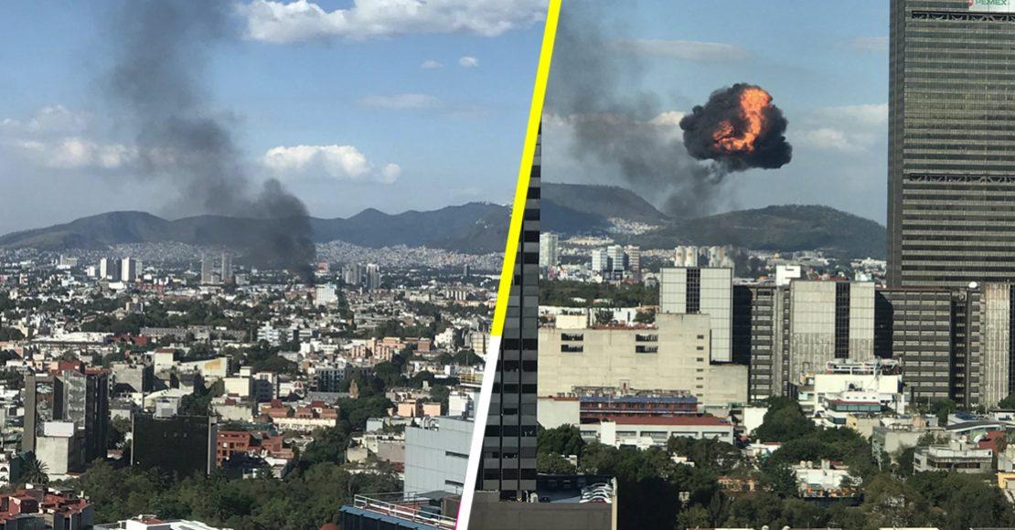 Se reporta explosión e incendio en la colonia Atlampa, CDMX