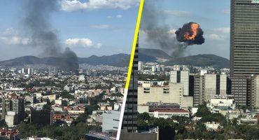 Se reporta explosión e incendio en fábrica de la colonia Atlampa, CDMX