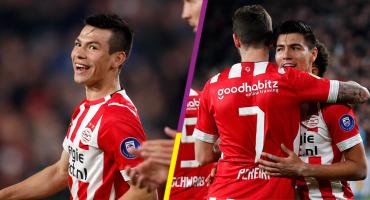 Los goles de Chucky Lozano y Erick Gutierrez en el repasón del PSV al Emmen