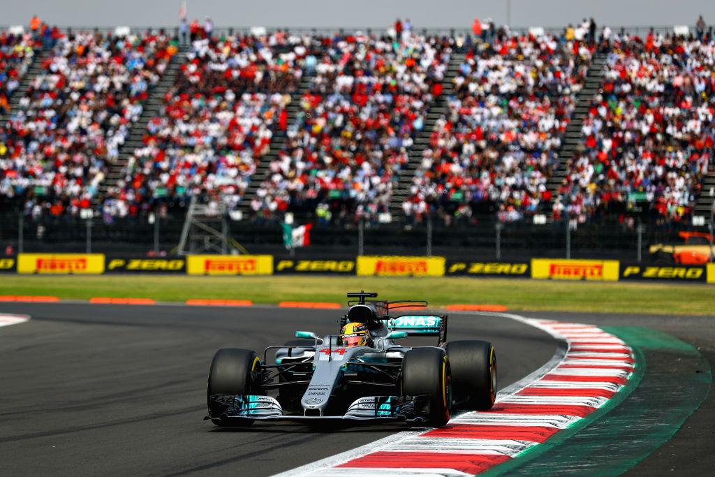 Hamilton durante el Gran Premio de México 2017