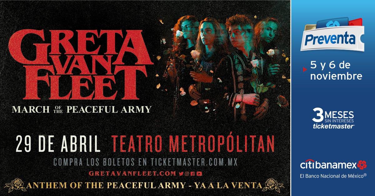 ¡La conciertiza no para! ¡Greta Van Fleet vendrá por primera vez a México!