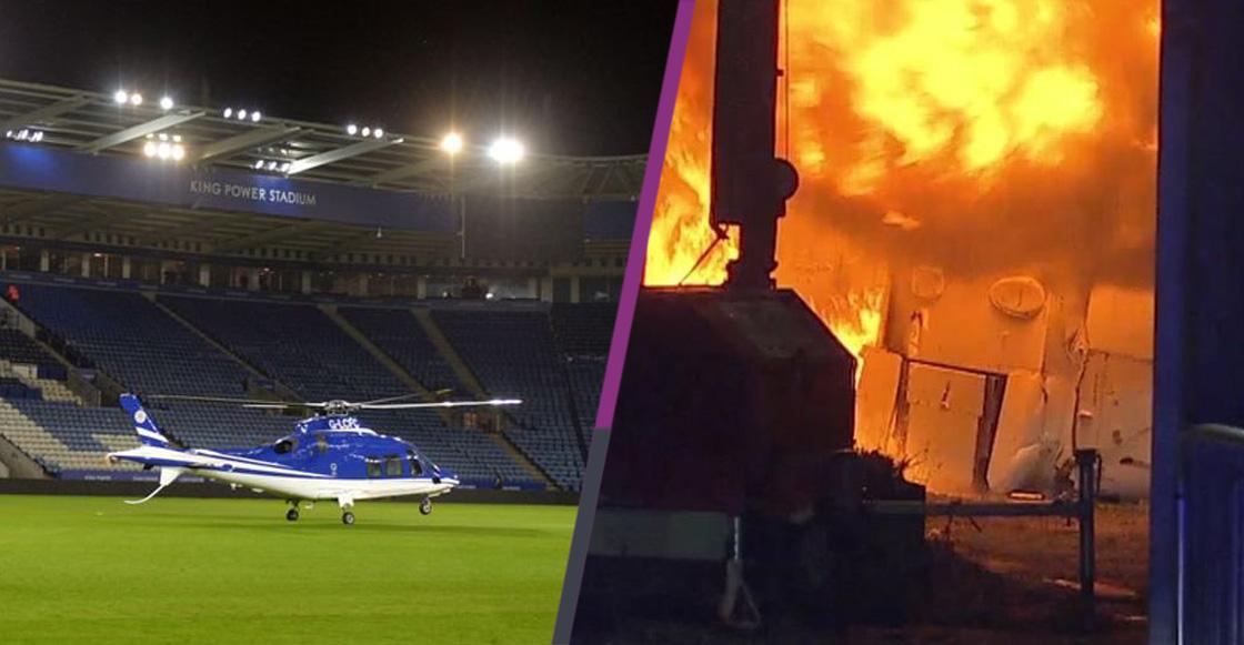 Se estrelló el helicóptero del dueño del club inglés Leicester