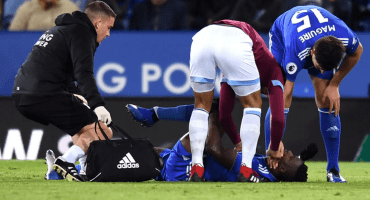 15 imágenes de la fractura de Daniel Amartey en el juego entre Leicester y West Ham