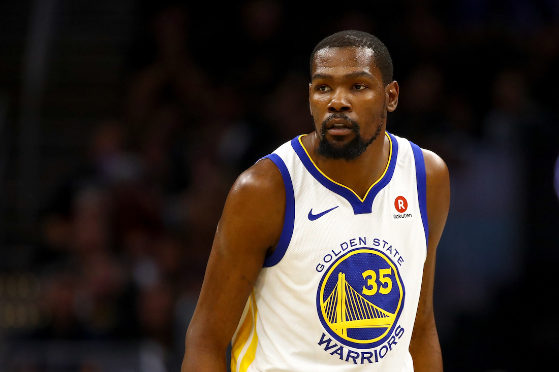 Kevin Durant, con Golden Sate