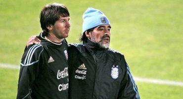 """Maradona: """"Messi es uno más con la Selección Argentina, no es Dios"""""""